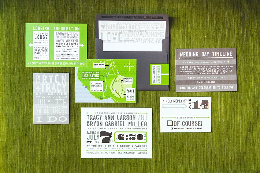 Green Grey Modern Fun Wedding Invitations The Goodness 001