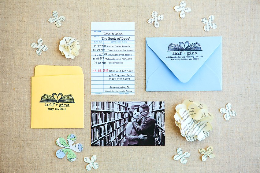 Library Book Wedding Invitations The Goodness 002