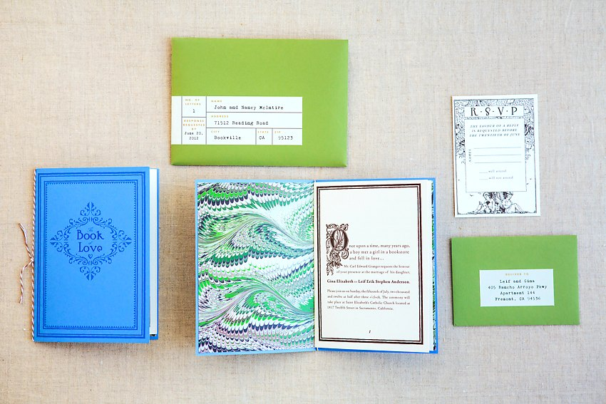 Library Book Wedding Invitations The Goodness 003
