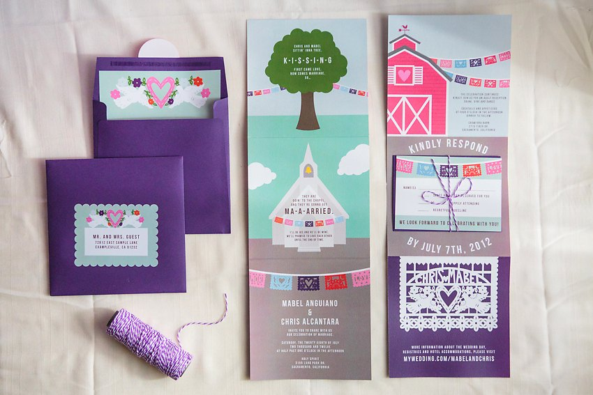 Papel Picado Fun Wedding Invitations The Goodness 001