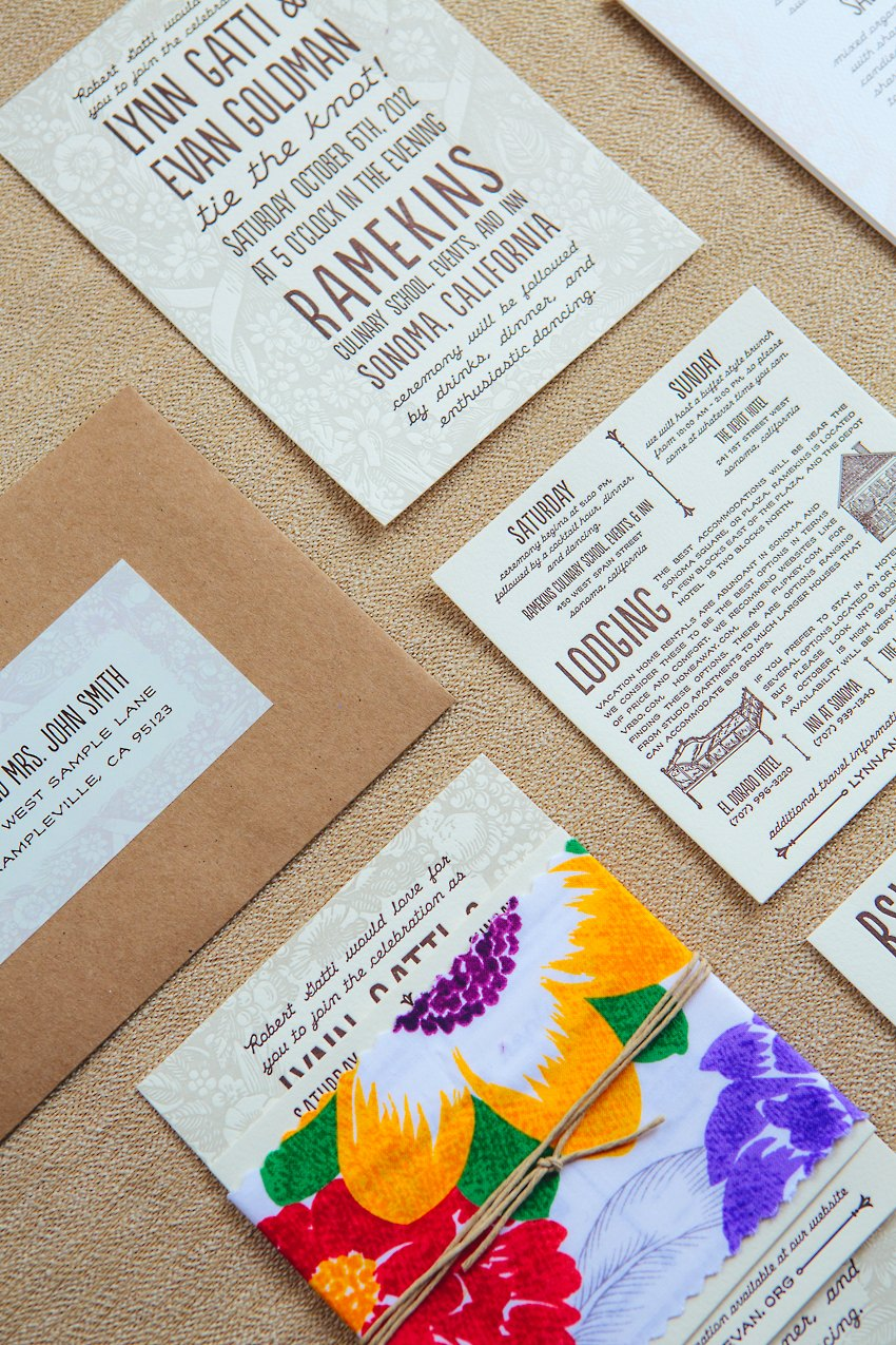 Watercolor Letterpress Wedding Invitations The Goodness 002