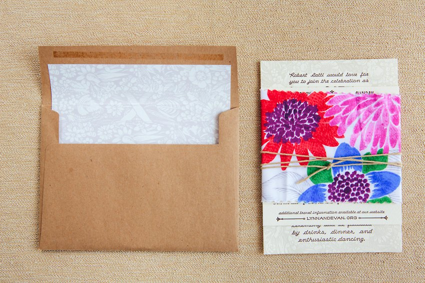 Watercolor Letterpress Wedding Invitations The Goodness 008