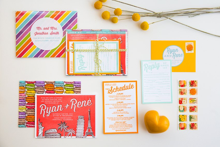 Colorful Travel Desserts Wedding Design 014 2