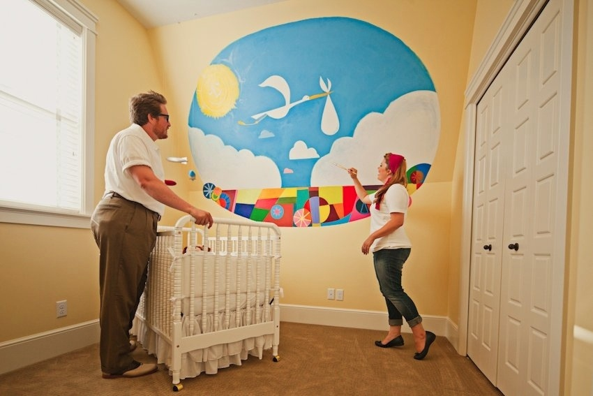 Good This Next Set Is In The Nursery Inside The House. I Absolutely ADORE The  Mural That Is Painted On The Wall. This Makes Us So Excited About Starting  A Little ...