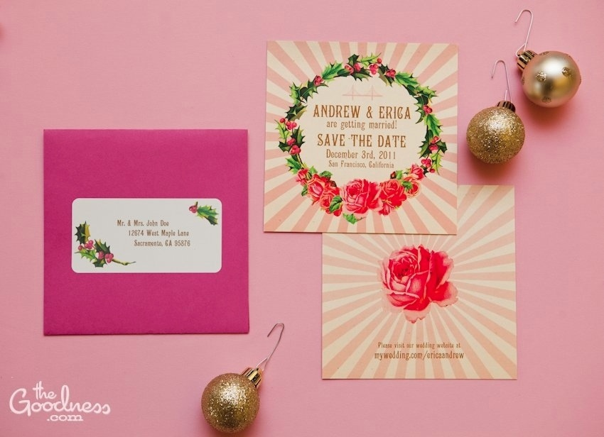 Andrew and Erica\'s pink Christmas wedding design | The Goodness