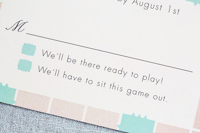To top it all off we created a Scrabble wedding program